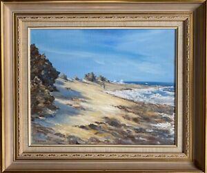 Coastal Ocean Original Framed Oil Painting by Helen Olsten