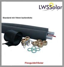 Solarleitung  DN16 5Meter ISO13mm Edelstahlwellrohr 4xVerschraubung