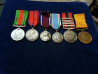 Orig WW1 & WW2 Group Of 6 Medals 'Fire Brigade & Coronation' Most Named