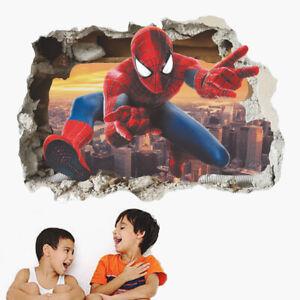 Children Boys Bedroom Mural Vinyl Removable Wall Sticker Spiderman Poster