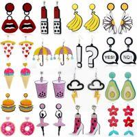 Cute Acrylic Boho Earrings Resin Drop Dangle Stud Geometric Women Earring Gift