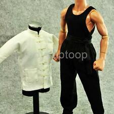 1/6 White Suit Kung Fu Hot Costume for Enterbay Enter the Dragon Bruce Lee