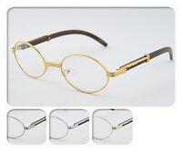 Clear Lens Eyeglasses Unisex Vintage Fashion Oval Frame Glasses UV 400 NEW