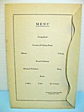 1941 Menu, Nathan Hale Hotel, Willimantic, David Moxon's 60th B'day Party, Sgned