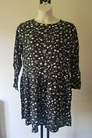 Ladies TU navy ditsy DRESS size 16 floral daisy print NEW TAGS - FREE POST