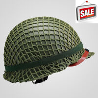 For M1 Helmets Net Coarse Cotton Rope Mud Collectible WW2 US Army Replica Helmet