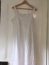 Carmelo Designs size 14 white linen dress. Square neck, straps, sleeveless