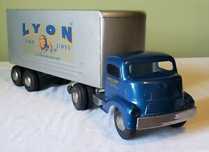Smith-Miller Smitty Toys GMC COE Cab Private Label LYON VAN LINES TT TRUCK 40's