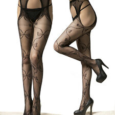 black bowknot Sexy Fishnet Tight Lingerie Open crotch Tights Underwear pantyhose