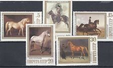 a105 - RUSSIA - SG5899-5903 MNH 1988 HORSE PAINTINGS
