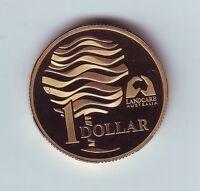 1993  $1 Proof Coin ex Set Land Care landcare water Australia *