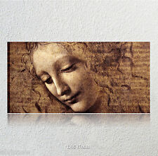 Leonardo da Vinci, la scapigliata testa fanciulla QUADRO MODERNO ARREDO STAMPA