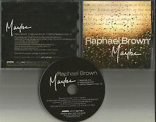 Next RAPHAEL BROWN Maybe w/ RARE RADIO MIX & INSTRUMENTAL PROMO DJ CD Single