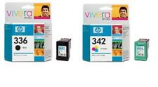 ORIGINAL TWIN PACK HP 336 BLACK + 342 COLOUR 2 YEARS GUARANTEE FAST FREE POSTAGE