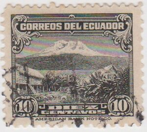 (EC48) 1934 Ecuador 10c black Mt Chimborazo ow500a