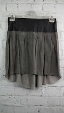 BNWT Muubaa Suede & Leather Draco Skirt in Black/Cement sz 8