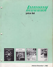 #MISC-0493 - DEC 1 1982 LUDWIG DRUMS musical instrument catalog price list