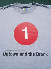 NYC Subway Line #1 UPTOWN & the BRONX size SMALL T-SHIRT