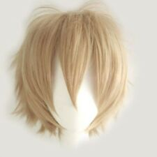 Unisex Anime Short Wig Cool Mens Women Cosplay Party Straight Anime Hair Wigs q2