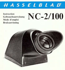 HASSELBLAD CAMERA NC-2/100 PRISM VIEWFINDER USE INSTRUCTIONS