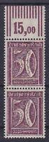 DR Mi Nr. 183 ** WOR Paar, Infla Ziffer Dt. Reich 1921, postfrisch, MNH