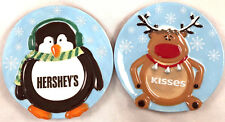 (2) Fitz & Floyd Circular Holiday Hershey's Kisses Holiday Collection Dish Plate