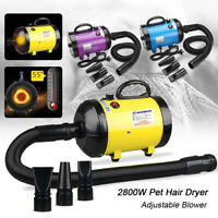 Pet Hair Dryer 2800W Dog Cat Grooming Hair Heater Blower Hairdryer Blower Set