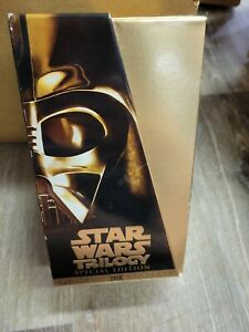 Star Wars Trilogy BOX SET (VHS, 1997, Gold Special Edition) signed by Billy D.