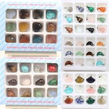 Wholesale Natural Gemstone Stone Heart Pendant For Necklace Bracelet Jewelry DIY