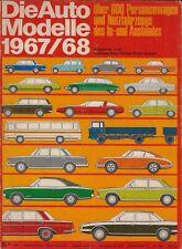 Die Auto Alle Modellen 1967/68 • Catalog Issue all Cars German market