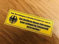BUNDESGESUNDHEITSMINISTERIUM Aufkleber Sticker Warning Achtung WARNUNG NOS-0029