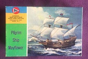 "Vintage Mid 60's PYRO Pilgrim Ship ""MAYFLOWER"" Kit C311-50 New Parts Open Box"