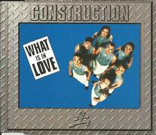CONSTRUCTION What is in love RADIO & 3 MIXES & EXTEND CD single SEALED USA seler
