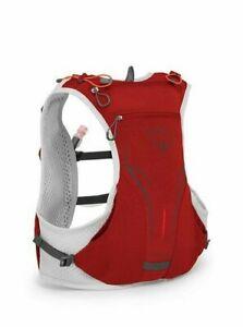 Osprey Duro 1.5 Hydration Vest Pack S/M Black Red Trail Run Hike 1.5L Revervoir
