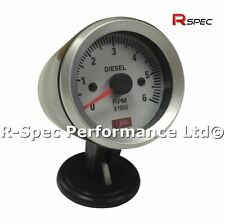 Faccia bianco 52mm REV COUNTER CONTAGIRI tachimetro RPM Gauge TURBO DIESEL-TD TDI PD
