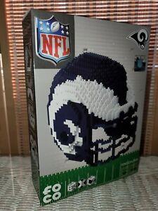 New! Foco BRXLZ NFL Rams 3D Helmet Shaped Building Blocks Puzzle 1310 Pieces Toy