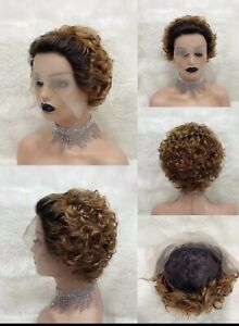 100 % Human Hair Short Wig 13x1 Front Lace