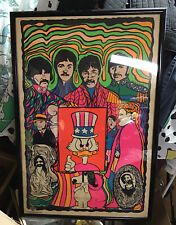 THE BEATLES RARE VINTAGE POSTER 1st print 1968 not 1969 Dan Shupe Bill Graham