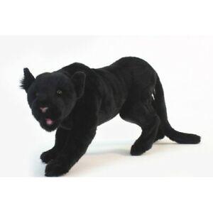 "NWT Hansa Life Like Handmade Stuffed Animal Plush Black Panther Prowling 22"""