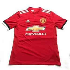 New Adidas Youth Boys' Manchester United Home Football Jersey, Red, Size Large