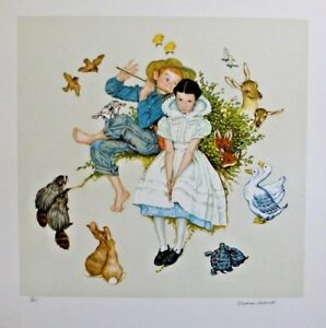 """NORMAN ROCKWELL - Four Ages of Love """"SPRING"""" - Signed and Numbered - COA"""