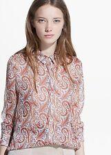 Woman paisley chiffon shirt,blouse size XS UK 6 new,mango