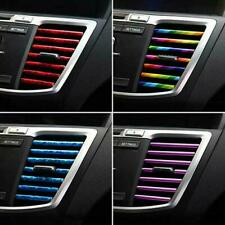 10 Pcs Auto Car Accessories Colorful Air Conditioner Air Outlet Decoration Strip