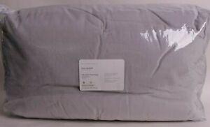 Pottery Barn Reign Velvet Tufted FQ comforter full queen f/q light gray *on hand
