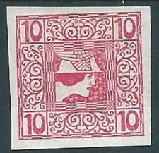 1908-10 AUSTRIA GIORNALI TESTA DI MERCURIO 10 H MH * - A110