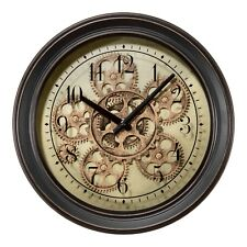 "BBB85289 La Crosse Clock Company 13"" Metal Analog Wall Clock with Working Gears"