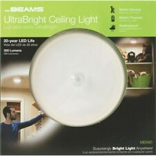 Battery Operated LED Ceiling Light Motion Activated Ultra Bright 300-Lumen White