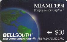 TK Telephonkarte/Phone Card Bell South Bringing Nations Together Earth Globe 10$
