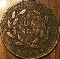 LOWER CANADA BANK OF MONTREAL BOUQUET UN SOU TOKEN
