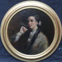 EDWIN LONG BRITISH VICTORIAN PORTRAIT OIL PAINTING MATILDA WETHERALL SMOKING ART